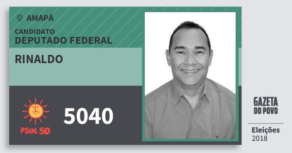 Santinho Rinaldo 5040 (PSOL) Deputado Federal | Amapá | Eleições 2018