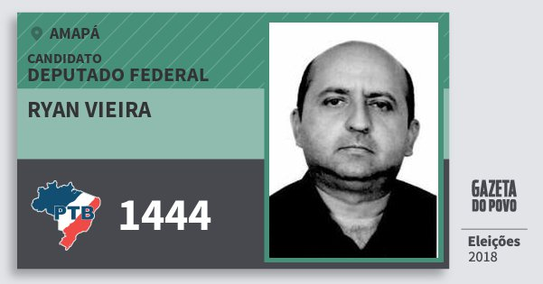 Santinho Ryan Vieira 1444 (PTB) Deputado Federal | Amapá | Eleições 2018