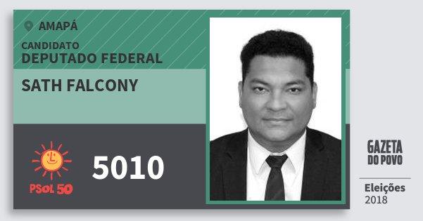 Santinho Sath Falcony 5010 (PSOL) Deputado Federal | Amapá | Eleições 2018