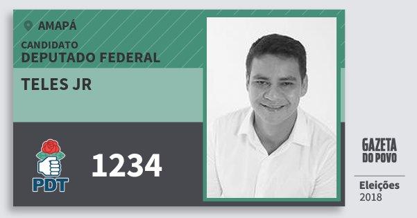 Santinho Teles Jr 1234 (PDT) Deputado Federal | Amapá | Eleições 2018