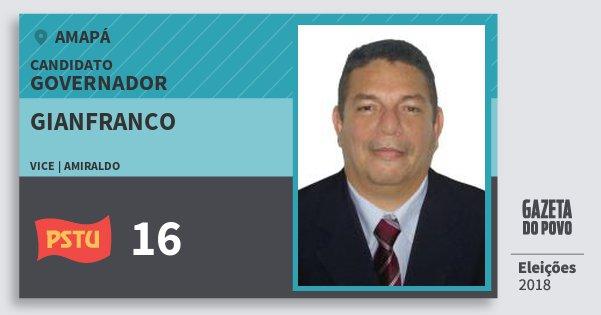 Santinho Gianfranco 16 (PSTU) Governador | Amapá | Eleições 2018
