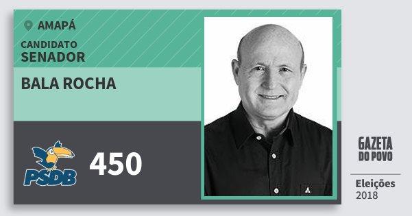 Santinho Bala Rocha 450 (PSDB) Senador | Amapá | Eleições 2018
