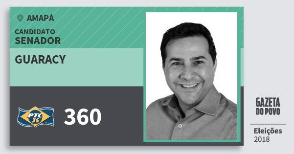 Santinho Guaracy 360 (PTC) Senador | Amapá | Eleições 2018