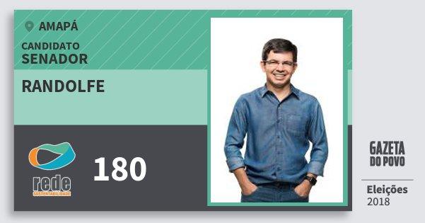 Santinho Randolfe 180 (REDE) Senador   Amapá   Eleições 2018