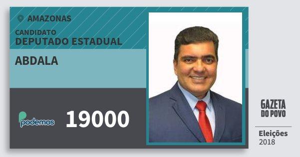 Santinho Abdala 19000 (PODE) Deputado Estadual | Amazonas | Eleições 2018