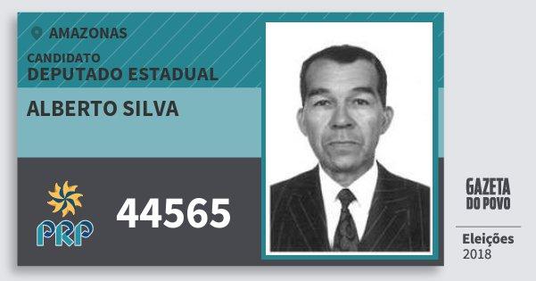 Santinho Alberto Silva 44565 (PRP) Deputado Estadual | Amazonas | Eleições 2018