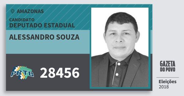 Santinho Alessandro Souza 28456 (PRTB) Deputado Estadual | Amazonas | Eleições 2018