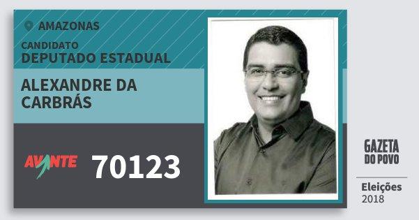 Santinho Alexandre da Carbrás 70123 (AVANTE) Deputado Estadual | Amazonas | Eleições 2018