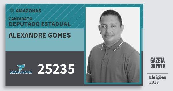 Santinho Alexandre Gomes 25235 (DEM) Deputado Estadual | Amazonas | Eleições 2018