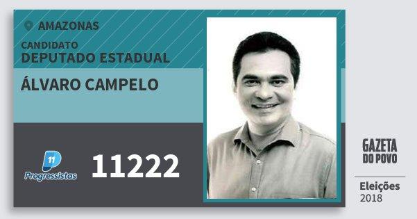 Santinho Álvaro Campelo 11222 (PP) Deputado Estadual | Amazonas | Eleições 2018