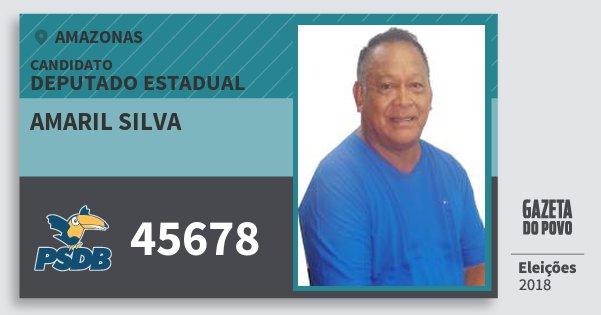 Santinho Amaril Silva 45678 (PSDB) Deputado Estadual | Amazonas | Eleições 2018