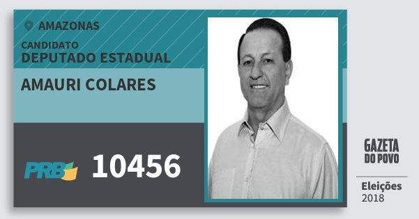 Santinho Amauri Colares 10456 (PRB) Deputado Estadual | Amazonas | Eleições 2018