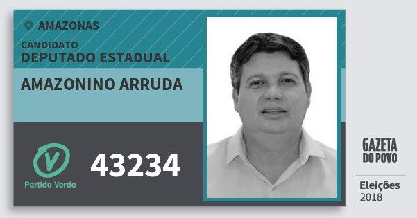 Santinho Amazonino Arruda 43234 (PV) Deputado Estadual | Amazonas | Eleições 2018