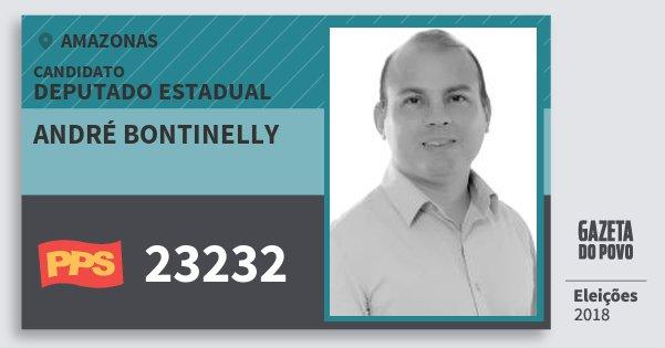 Santinho André Bontinelly 23232 (PPS) Deputado Estadual | Amazonas | Eleições 2018
