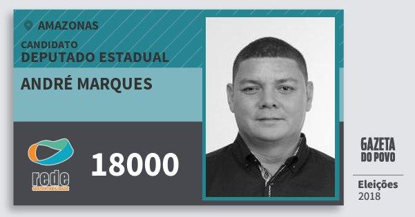 Santinho André Marques 18000 (REDE) Deputado Estadual | Amazonas | Eleições 2018