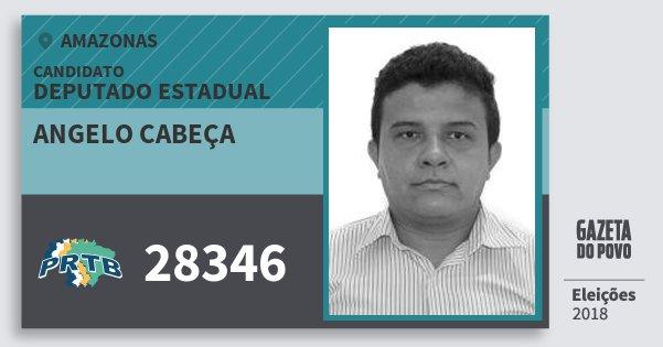 Santinho Angelo Cabeça 28346 (PRTB) Deputado Estadual | Amazonas | Eleições 2018