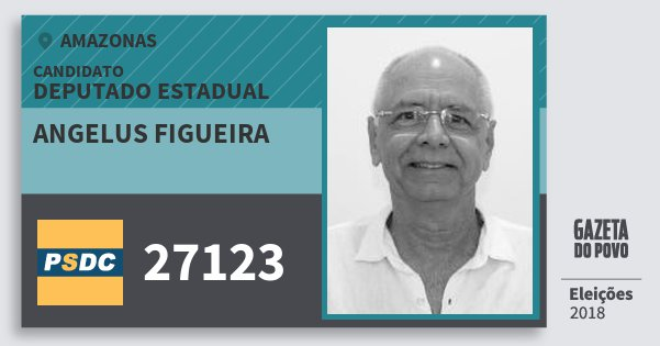 Santinho Angelus Figueira 27123 (DC) Deputado Estadual | Amazonas | Eleições 2018