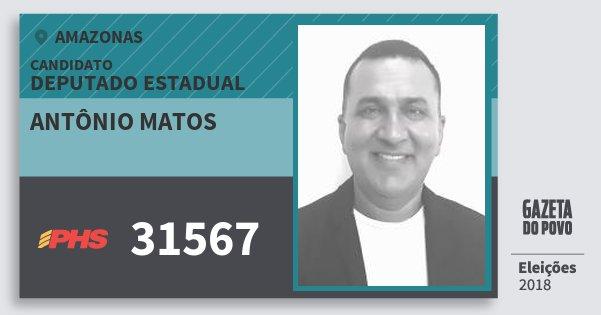 Santinho Antônio Matos 31567 (PHS) Deputado Estadual   Amazonas   Eleições 2018