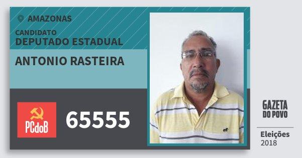 Santinho Antonio Rasteira 65555 (PC do B) Deputado Estadual | Amazonas | Eleições 2018