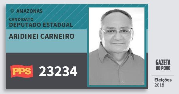 Santinho Aridinei Carneiro 23234 (PPS) Deputado Estadual | Amazonas | Eleições 2018