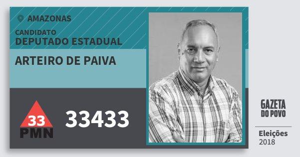 Santinho Arteiro de Paiva 33433 (PMN) Deputado Estadual | Amazonas | Eleições 2018