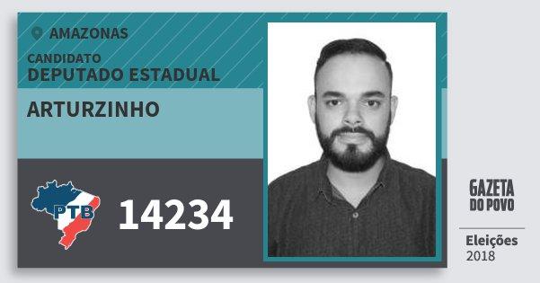 Santinho Arturzinho 14234 (PTB) Deputado Estadual | Amazonas | Eleições 2018
