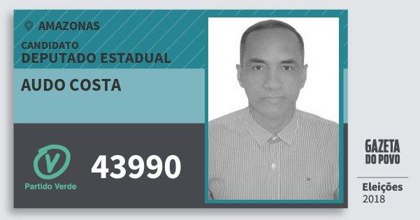 Santinho Audo Costa 43990 (PV) Deputado Estadual | Amazonas | Eleições 2018