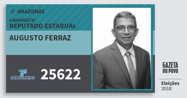 Santinho Augusto Ferraz 25622 (DEM) Deputado Estadual | Amazonas | Eleições 2018