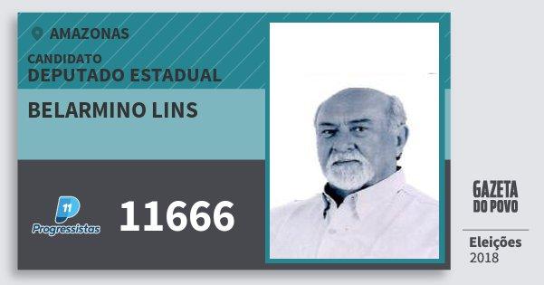 Santinho Belarmino Lins 11666 (PP) Deputado Estadual | Amazonas | Eleições 2018