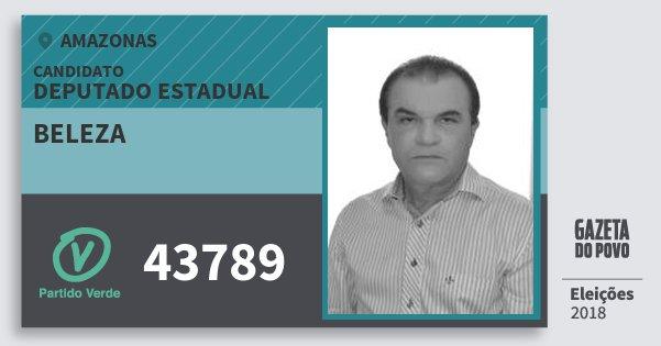Santinho Beleza 43789 (PV) Deputado Estadual | Amazonas | Eleições 2018