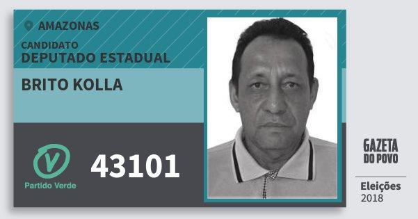 Santinho Brito Kolla 43101 (PV) Deputado Estadual | Amazonas | Eleições 2018