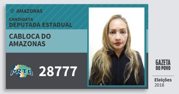 Santinho Cabloca do Amazonas 28777 (PRTB) Deputada Estadual | Amazonas | Eleições 2018