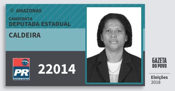 Santinho Caldeira 22014 (PR) Deputada Estadual   Amazonas   Eleições 2018