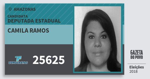 Santinho Camila Ramos 25625 (DEM) Deputada Estadual | Amazonas | Eleições 2018