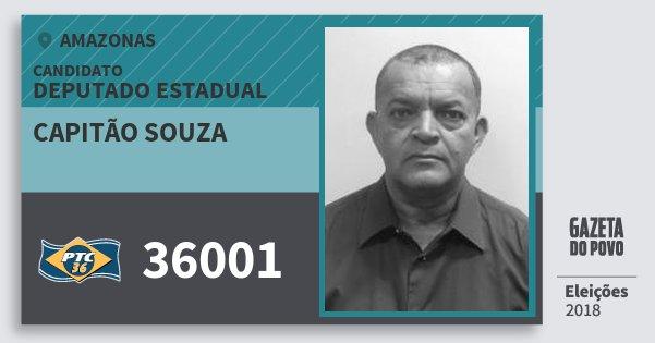 Santinho Capitão Souza 36001 (PTC) Deputado Estadual | Amazonas | Eleições 2018