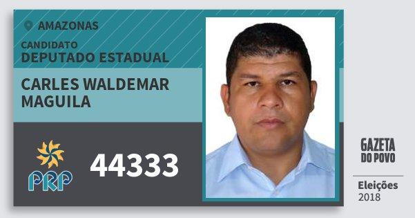 Santinho Carles Waldemar Maguila 44333 (PRP) Deputado Estadual | Amazonas | Eleições 2018