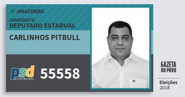 Santinho Carlinhos Pitbull 55558 (PSD) Deputado Estadual   Amazonas   Eleições 2018