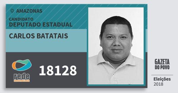 Santinho Carlos Batatais 18128 (REDE) Deputado Estadual | Amazonas | Eleições 2018