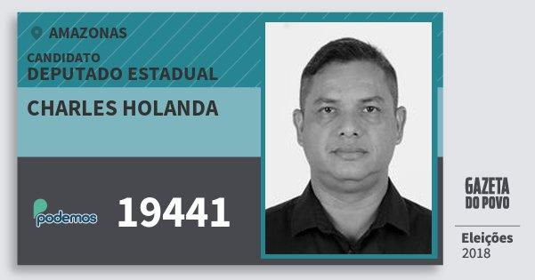 Santinho Charles Holanda 19441 (PODE) Deputado Estadual | Amazonas | Eleições 2018
