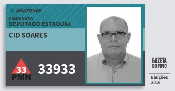 Santinho Cid Soares 33933 (PMN) Deputado Estadual | Amazonas | Eleições 2018
