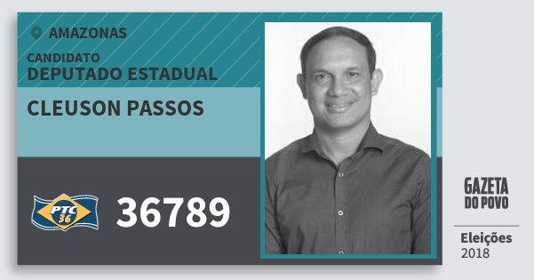 Santinho Cleuson Passos 36789 (PTC) Deputado Estadual | Amazonas | Eleições 2018