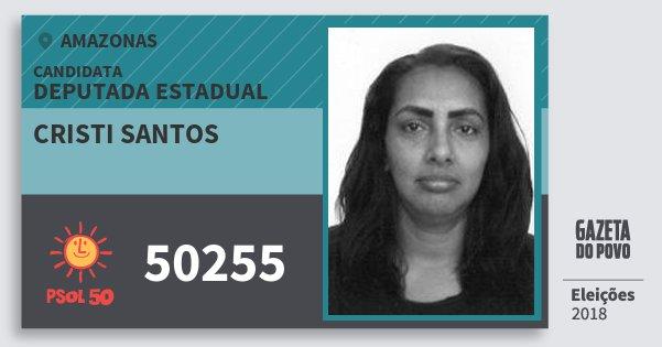 Santinho Cristi Santos 50255 (PSOL) Deputada Estadual | Amazonas | Eleições 2018