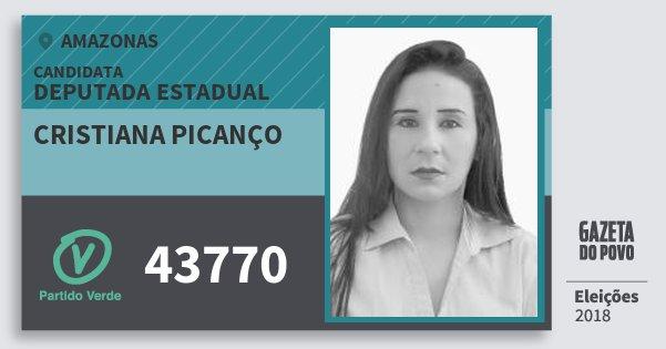 Santinho Cristiana Picanço 43770 (PV) Deputada Estadual | Amazonas | Eleições 2018