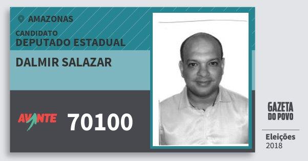 Santinho Dalmir Salazar 70100 (AVANTE) Deputado Estadual | Amazonas | Eleições 2018