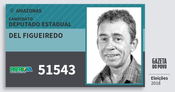 Santinho del Figueiredo 51543 (PATRI) Deputado Estadual | Amazonas | Eleições 2018