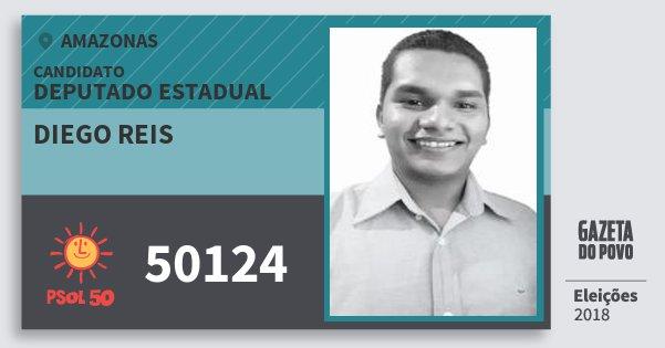 Santinho Diego Reis 50124 (PSOL) Deputado Estadual | Amazonas | Eleições 2018