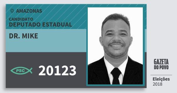 Santinho Dr. Mike 20123 (PSC) Deputado Estadual | Amazonas | Eleições 2018