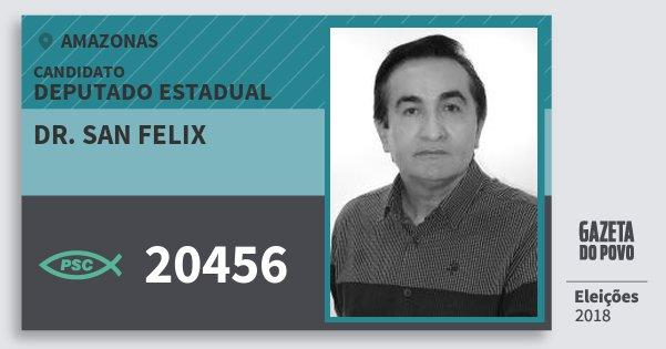 Santinho Dr. San Felix 20456 (PSC) Deputado Estadual | Amazonas | Eleições 2018