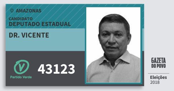 Santinho Dr. Vicente 43123 (PV) Deputado Estadual | Amazonas | Eleições 2018