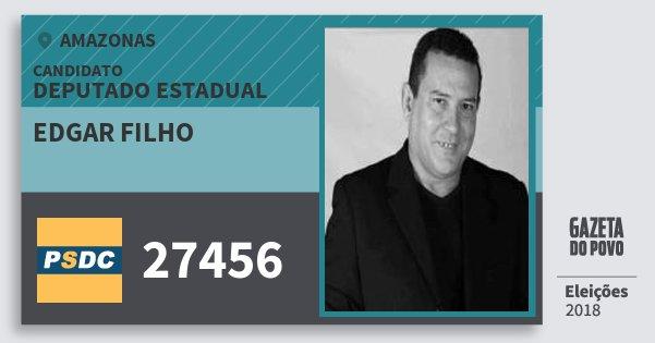 Santinho Edgar Filho 27456 (DC) Deputado Estadual | Amazonas | Eleições 2018